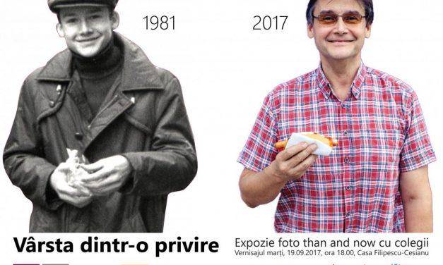 """Vârsta dintr-o privire – Expoziție foto """"than and now"""" cu colegii ani '80 – 2017 @ Muzeul Municipiului București, grădina Casei Filipescu-Cesianu"""
