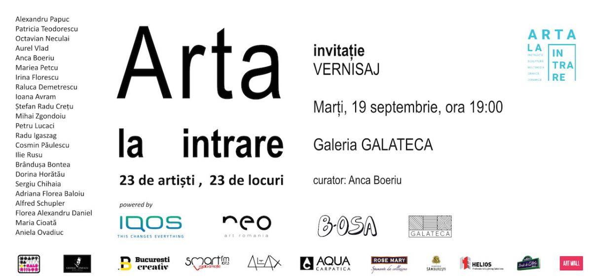 """Lansare proiect şi vernisaj """"Artă la intrare"""" @ Galeria Galateca, București"""