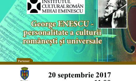 """Expoziţia """"George Enescu – personalitate a culturii româneşti şi universale"""" la Chișinău"""