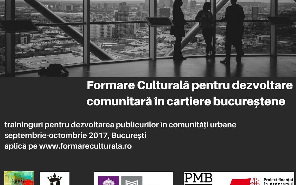 Dezvoltare comunitară prin proiecte culturale: traininguri dedicate instituțiilor publice de cultură
