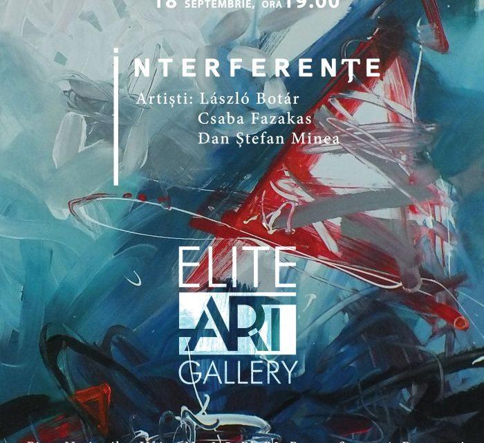 """László Botár, Csaba FazakasșiDan Ștefan Minea """"Interferențe"""" @ Elite Art Gallery, București"""