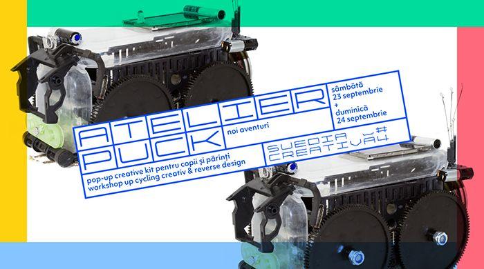 Atelier PUCK – noi aventuri: pop-up creative kit pentru copii și părinți
