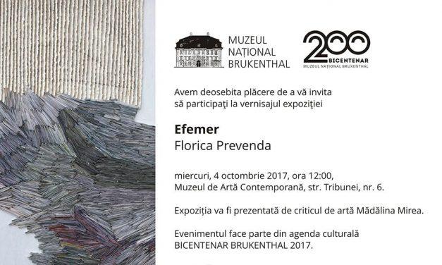 "Florica Prevenda – Expoziția ""Efemer"" @ Muzeul Brukenthal din Sibiu"