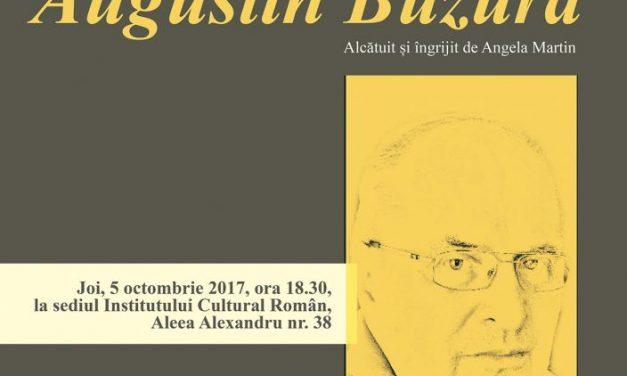 """Lansarea volumului """"Întâlniri cu Augustin Buzura"""" la sediul Institutului Cultural Român"""