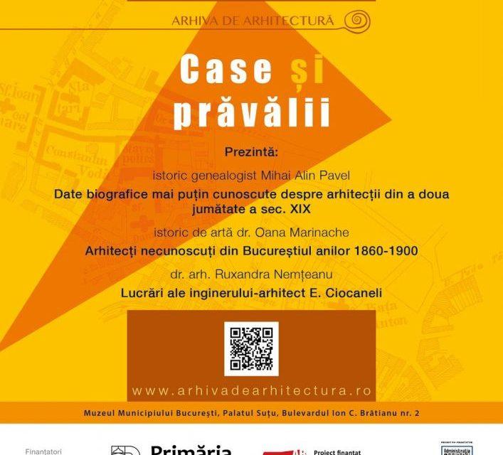 """Conferința """"Arhiva de arhitectură: case și prăvălii"""" @ Muzeul Municipiului București – Palatul Suțu"""