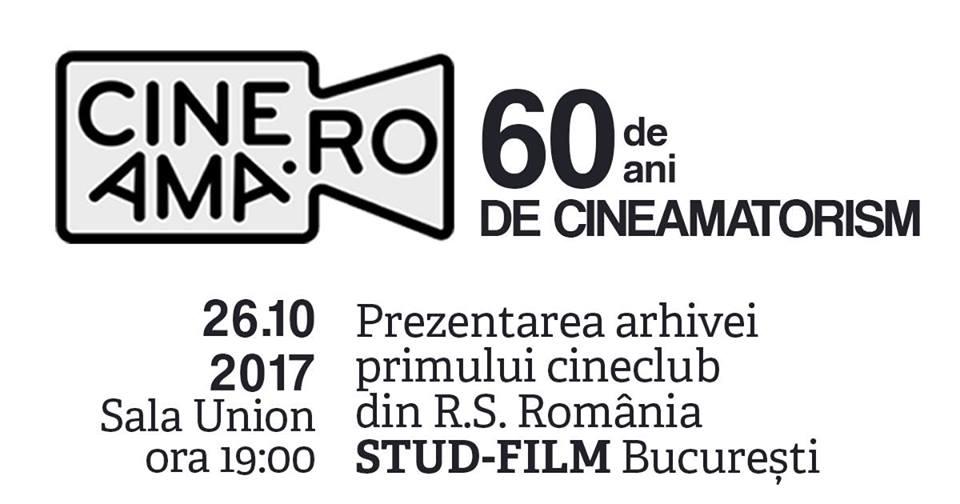 Lansarea platformei online www.cineama.ro – Arhiva Cineclubului Stud-Film