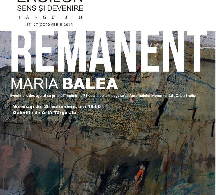 """Maria Balea, expoziția de pictură""""Remanent"""" @ Galeriile Municipale de Artă din Tg. Jiu"""