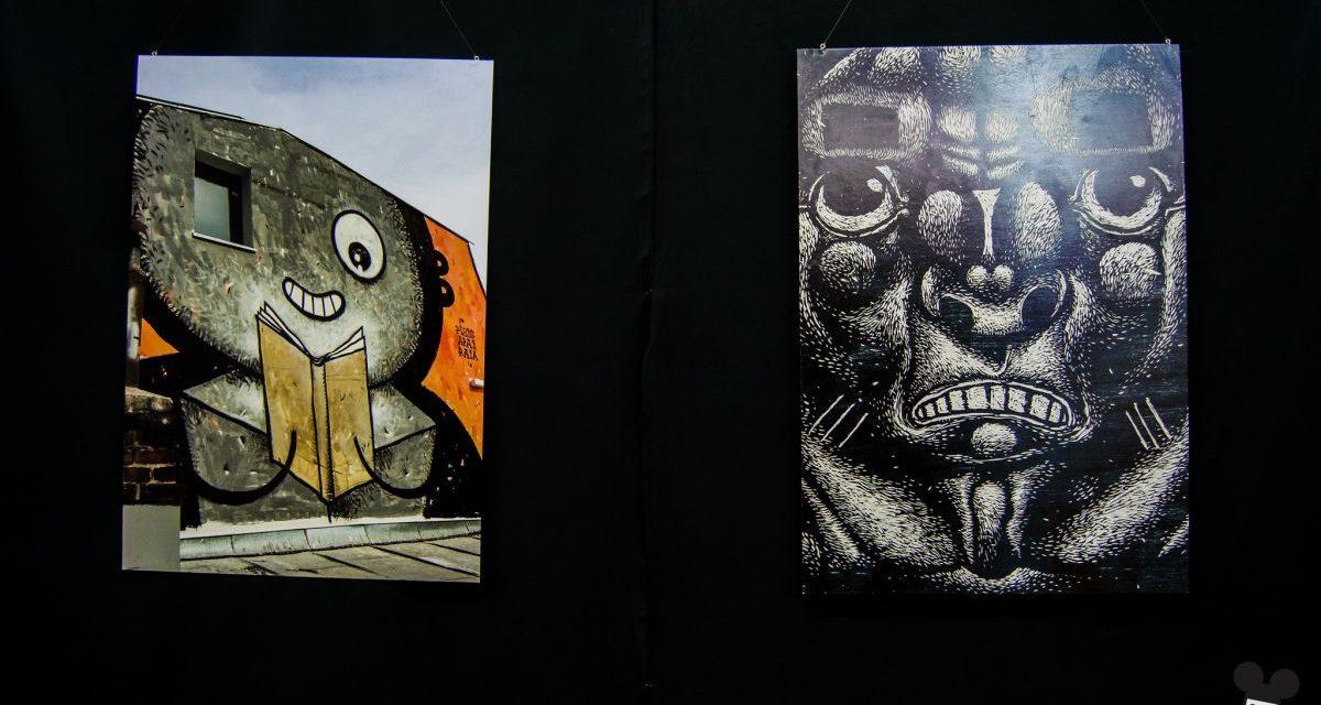 Expoziții de bandă desenată la Anim'est 2017  /  Pisica Pătrată: Live Graffiti pe clădirea Centrului CINETic
