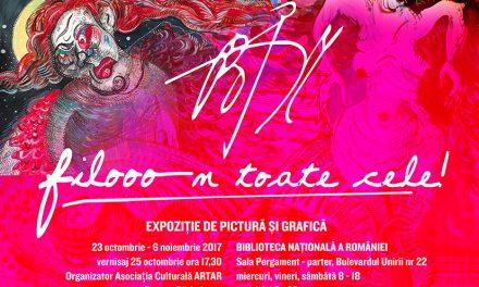 Epoziția personală de grafică și pictură Filomela Bucur @ Biblioteca Națională a României
