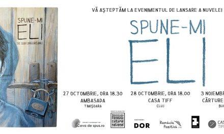 """Nuvelă grafică """"Spune-mi Eli"""" de Dan Ungureanu, despre copii abandonați în instituții rezidențiale"""