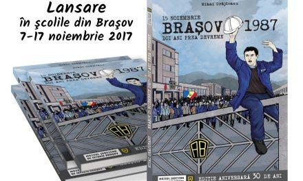 """Albumul de bandă desenată""""Brașov 15 Noiembrie 1987 – doi ani prea devreme"""""""