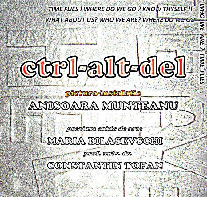 """Anișoara Munteanu, expoziție de pictură-instalație ,,CTRL-ALT-DEL"""" @ Galeria de artă """"Th. Pallady"""", Iași"""