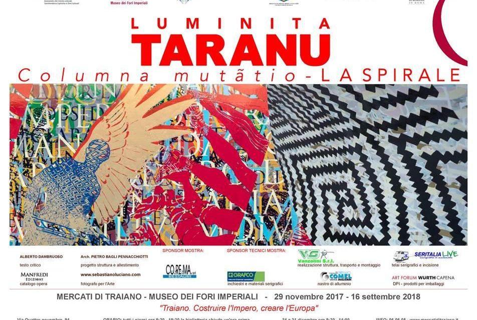 """Luminița Țăranu""""Columna mutãtio– LA SPIRALE"""" @ Mercato di Traiano – Musei dei Fori Imperiali din Roma"""