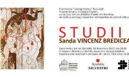 """Sanda Vincenz Brediceanu, expoziţia retrospectivă """"Studii"""" @ Foaierul Atheneului Român, București"""