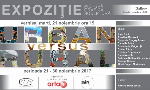 """Expoziția de pictură, grafică și sculptură """"Urban versus Rural"""" @ spațiul Gallery; București"""