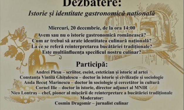 """Dezbaterea """"Istorie și identitate gastronomică națională"""" @ Muzeul Naţional de Istorie a României"""