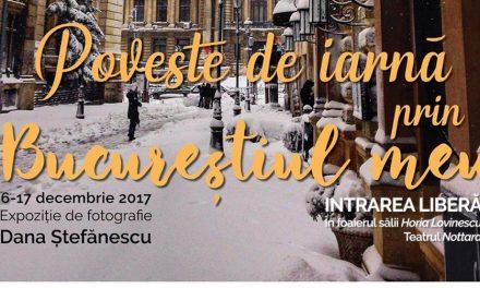 """Expoziție """"Poveste de iarnă prin Bucureștiul meu"""" @ Teatrul Nottara, București"""
