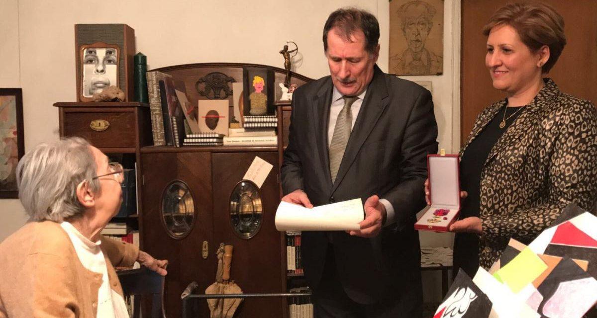 """Artistei Geta Brătescu i s-a înmânat Ordinul Național """"Steaua României"""""""