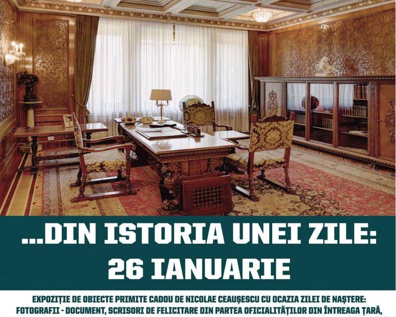 """Expoziția """"Din istoria unei zile: 26 ianuarie"""" @ Palatul Primăverii, București"""