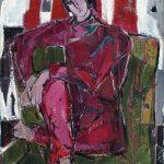 Redlinger Alma - Portret pe rosu