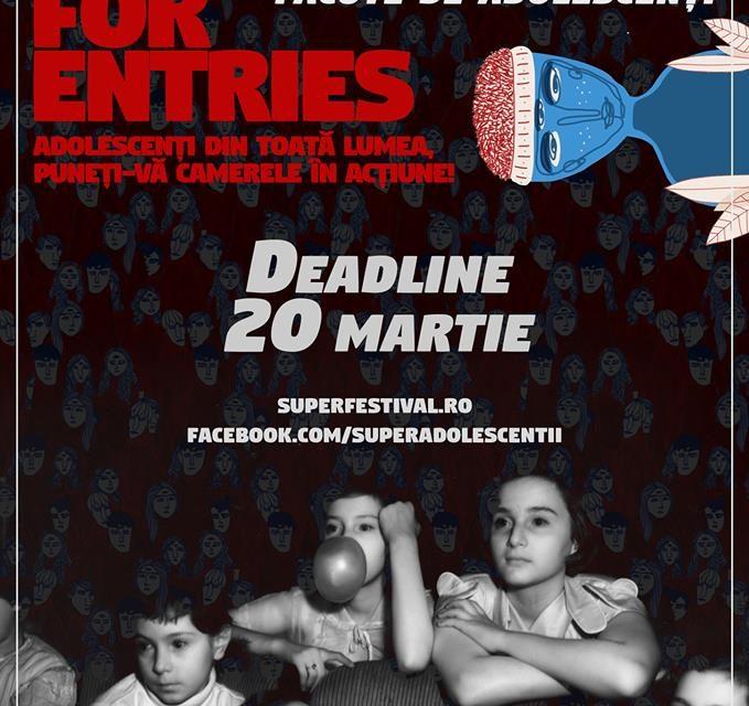 Trimite-ți scurtmetrajul la Superfestivalul internațional de filme făcute de adolescenți!