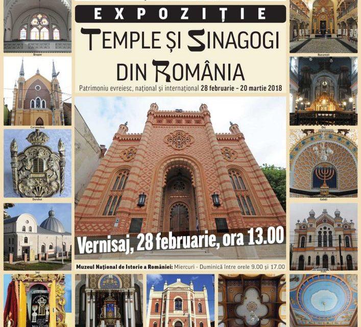"""Temple și sinagogi din România – patrimoniu evreiesc, national și universal"" @ Muzeul Național de Istorie a României"