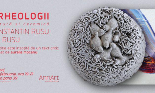Arheologii în pictură și ceramică: Constantin Rusu și Ilie Rusu @ AnnArt Gallery, București