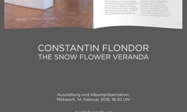 """Expoziție Constantin Flondor """"Veranda cu flori de zăpadă"""" la Galeria ICR Viena"""
