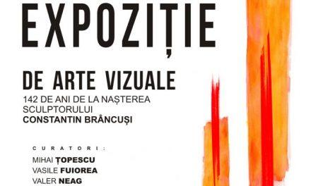 """Expoziția de arte vizuale: """"142 de ani de la naștereasculptorului Constantin Brâncuși"""" @ Galeriile Municipale de Artă din Târgu Jiu"""