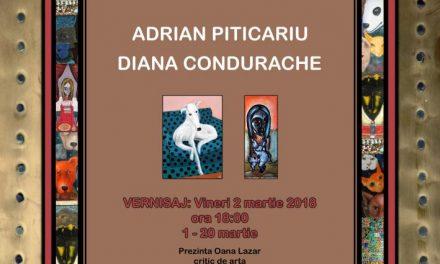 """Expoziție Diana CONDURACHE și Adrian PITICARIU@ Galeria de artă """"Th. Pallady"""", Iași"""