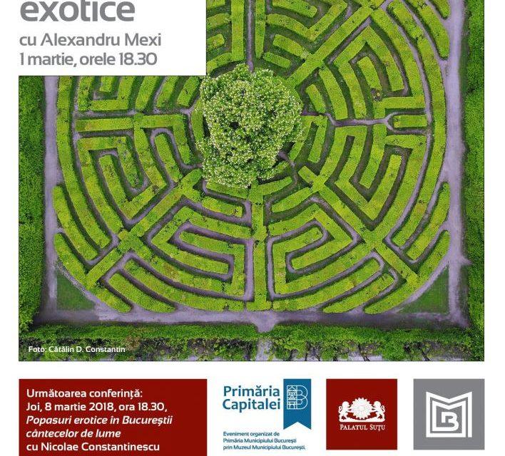 Peisaj indigen şi grădini exotice la Palatul Suțu