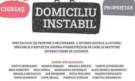 Domiciliu Instabil – spectacol al echipei VÂRSTA4 @ Teatrul Evreiesc de Stat