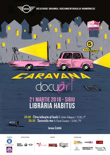 Caravana Docuart ajunge în Sibiu și Târgu Jiu