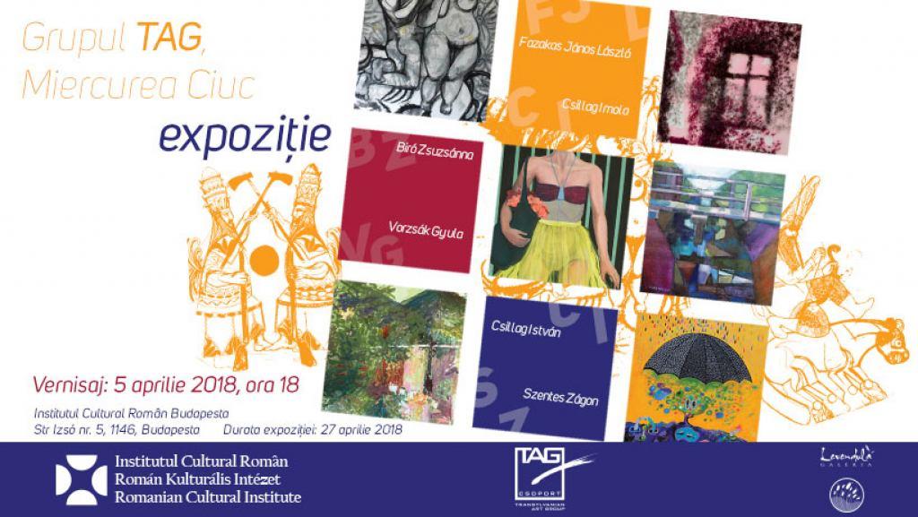 """Expoziție colectivă a artiștilor Grupului """"Transylvanian Art Group""""  la sediul Institutului Cultural Român Budapesta"""
