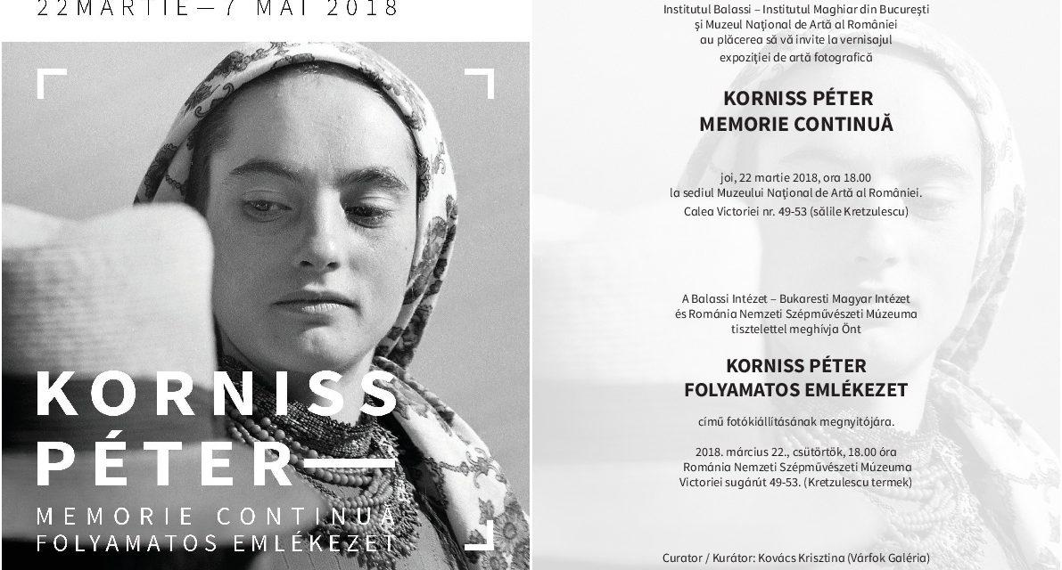 Legendarul artist fotograf KORNISS Péter revine la Bucureşti cu două expoziții