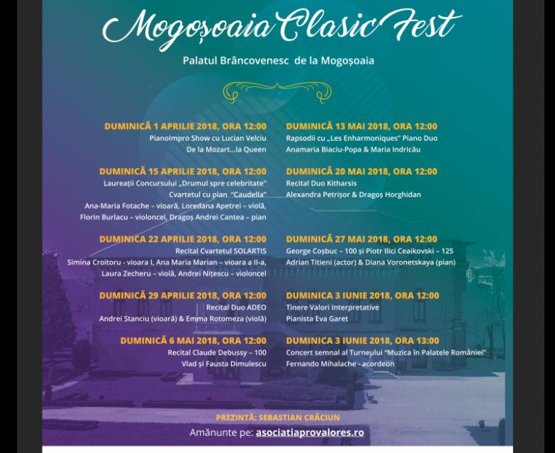 Mogoșoaia Clasic Fest ediția a VII-a @ Palatul Brâncovenesc de la Mogoşoaia