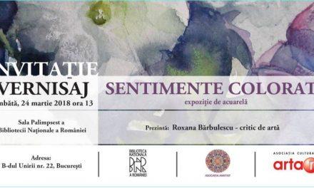 """Expoziție de acuarelă """"Sentimente colorate"""" @ Biblioteca Națională a României"""