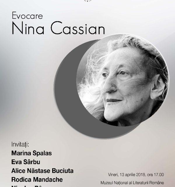 Evocare Nina Cassian @ Muzeul Național al Literaturii Române