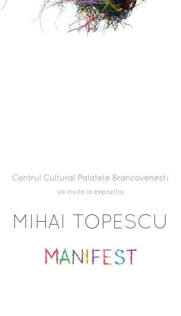 """Expoziție Mihai Țopescu, MANIFEST @ Centrul Cultural """"Palatele Brâncovenești de la Porțile Bucureștiului"""""""