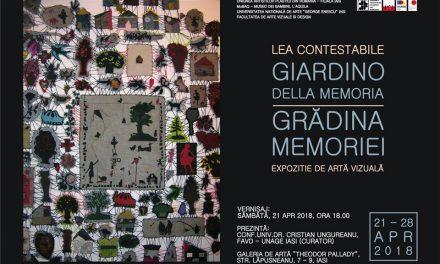 """Lea Contestabile """"Grădina memoriei"""" @ Galeria de artă """"Th. Pallady"""", Iași"""