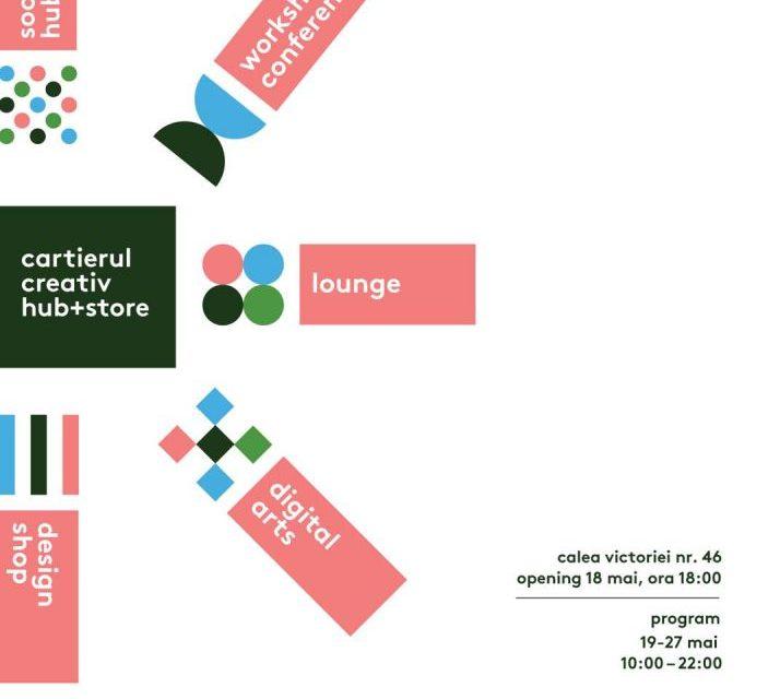 Cartierul Creativ hub+store se deschide în perioada 18-27 mai, la Victoria 46, București