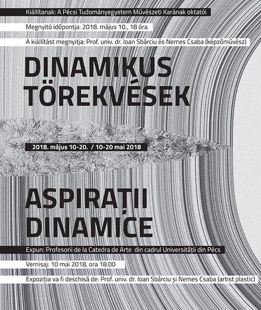 """Expoziție de grup a profesorilor de la Catedra de Arte din cadrul Universităţii din Pécs """"Aspiraţii dinamice"""" @ Muzeul de Artă Cluj-Napoca"""