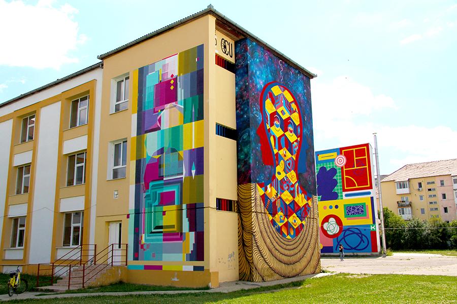 Noi lucrări de artă pe străzile Sibiului. Ce artişti vor picta zidurile la SISAF 2018