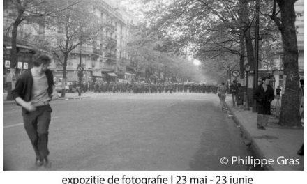 """Expoziție de fotografie de Philippe Gras """"În mijlocul evenimentelor din Mai 1968"""" @ Institutul Francez din Timișoara"""