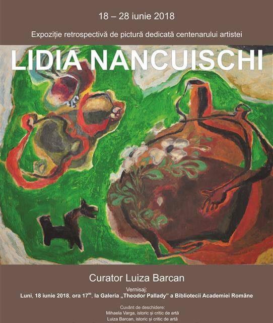 """Expoziția retrospectivă de pictură Lidia Nancuischi la Sala """"Theodor Pallady"""" a Bibliotecii Academiei Române"""