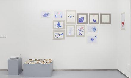 """Ana Adam, Nona Inescu, Emilio Rojas, Larisa Sitar """"BLOOD, STOP, SPACE, GOLD"""" @ José de la Fuente gallery, Santander"""