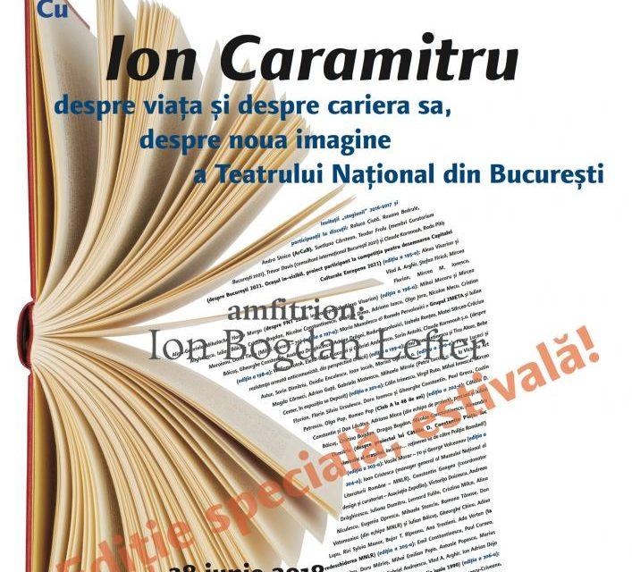 """Cu Ion Caramitru – """"Cafenea critica"""" la Teatrul National!"""