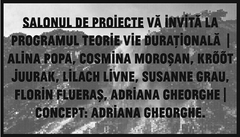 Teorie vie durațională @ Salonul de proiecte, București