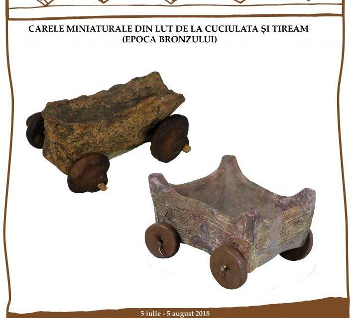 Exponatul lunii iulie 2018 la Muzeul Național de Istorie a României: Carele miniaturale din lut de la Cuciulata și Tiream (Epoca Bronzului)