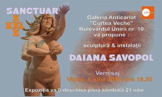 """Daiana Savopol, """"Sanctuar xxx-L"""" @ Galeria Anticariat Curtea Veche, București"""